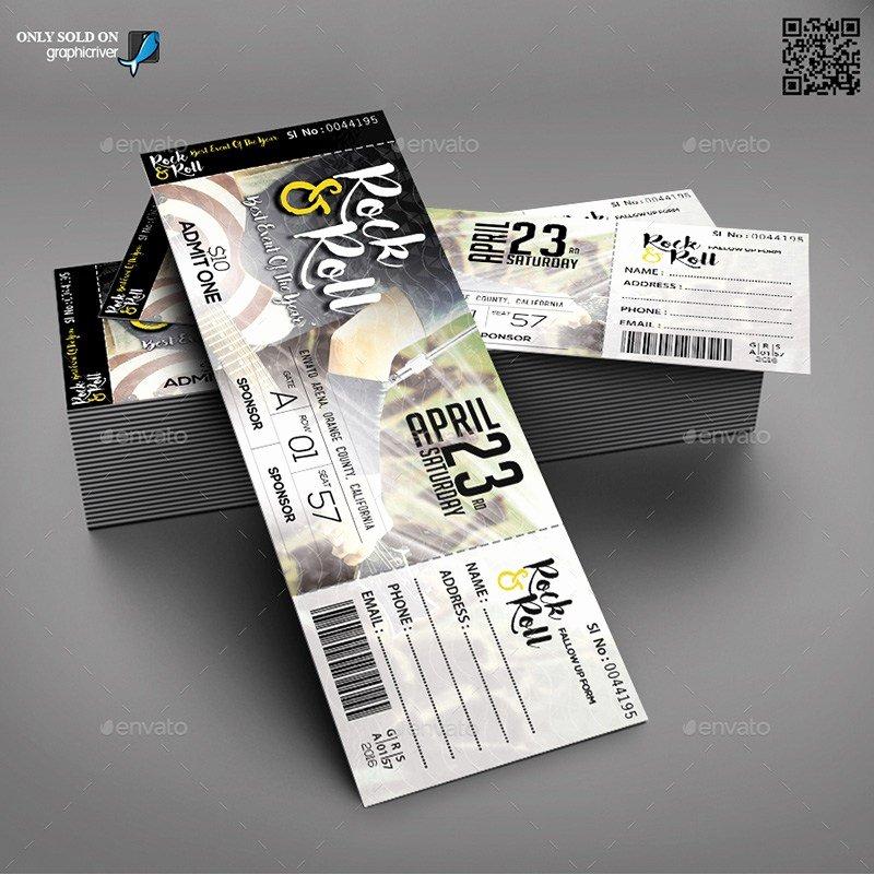Event Ticket Template Photoshop Unique 18 event Ticket Templates Psd Psdtemplatesblog