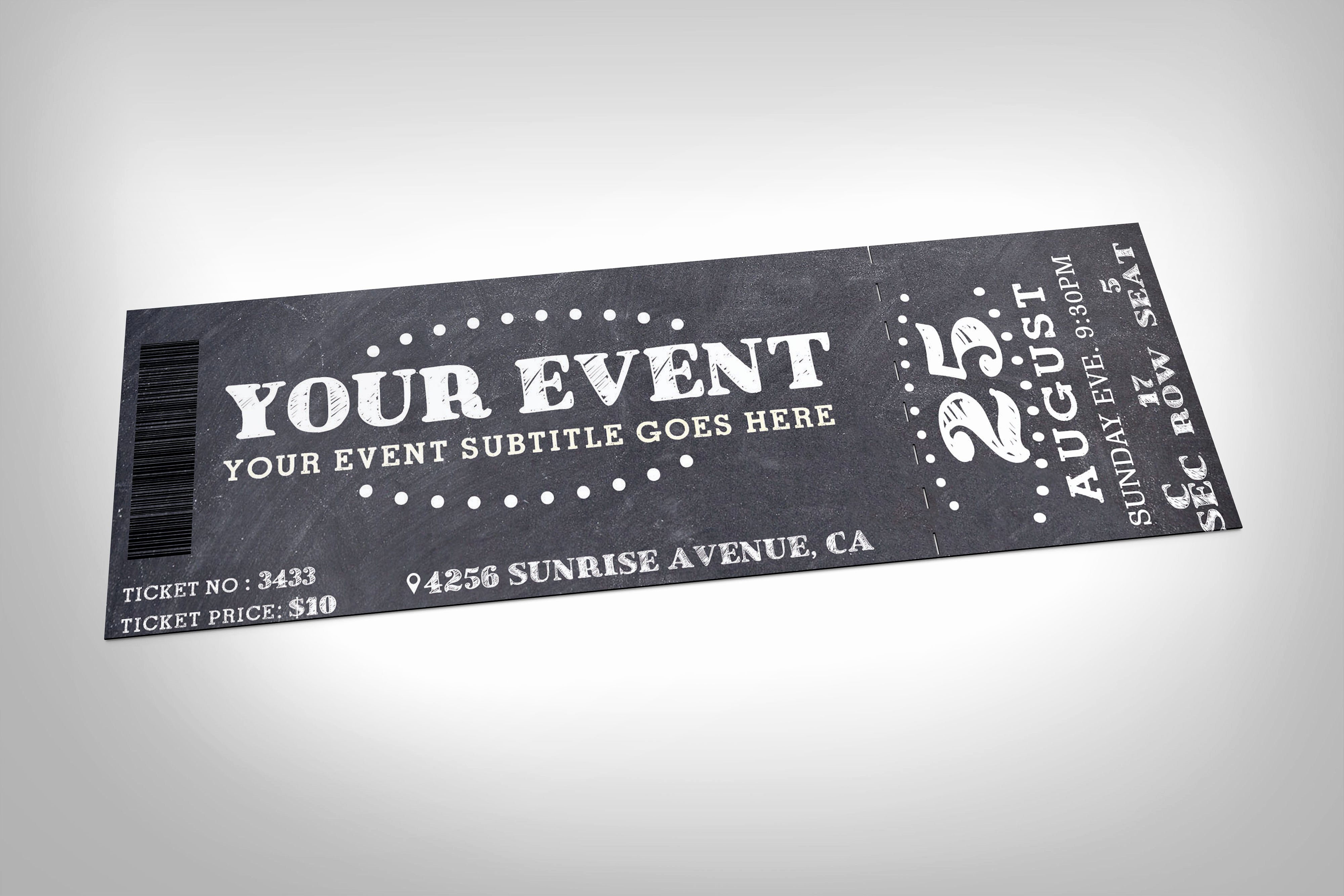 Event Ticket Template Photoshop Unique 22 event Ticket Templates Psd Ai Word