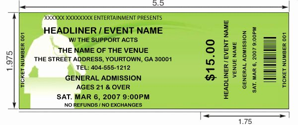 Event Ticket Template Word Awesome 14 event Ticket Templates Excel Pdf formats