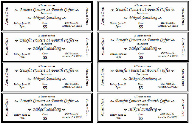 Event Ticket Template Word Beautiful 10 Free event Ticket Templates for Word and Adobe