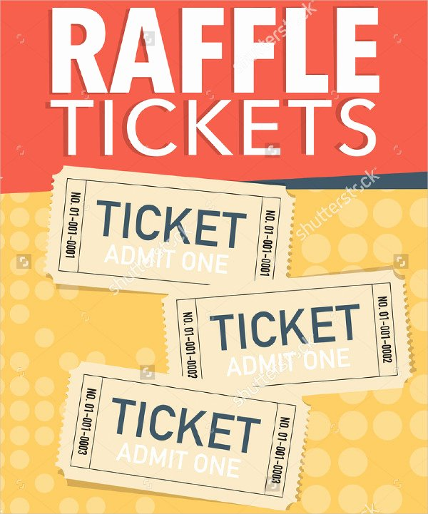 Event Ticket Template Word New Printable Raffle Ticket Template 18 Free Word Excel