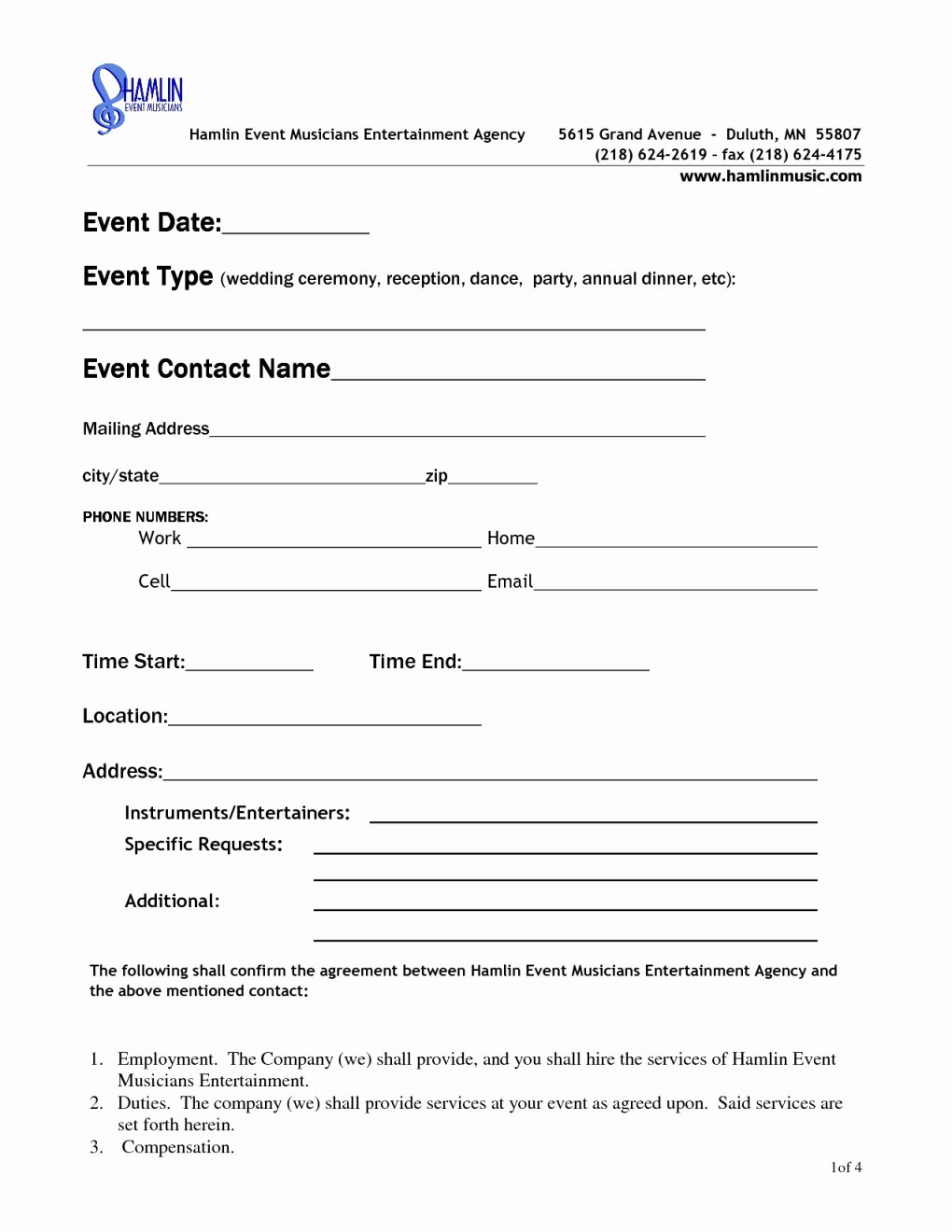 Event Venue Contract Template Awesome Free event Rental Agreement Template
