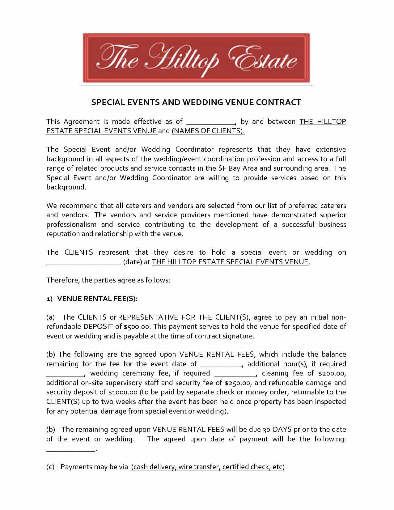 Event Venue Contract Template Lovely Best S Of Venue Rental Contract Template Real