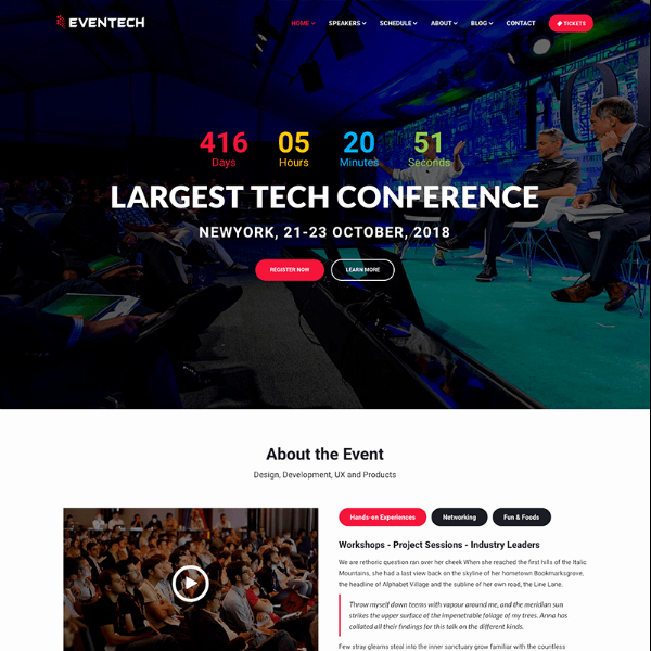Event Website Template Free Beautiful 11 Conference Website themes & Templates