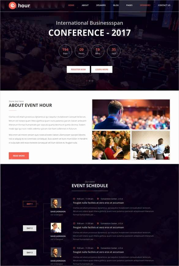 Event Website Template Free Beautiful 33 event Planning Website themes & Templates