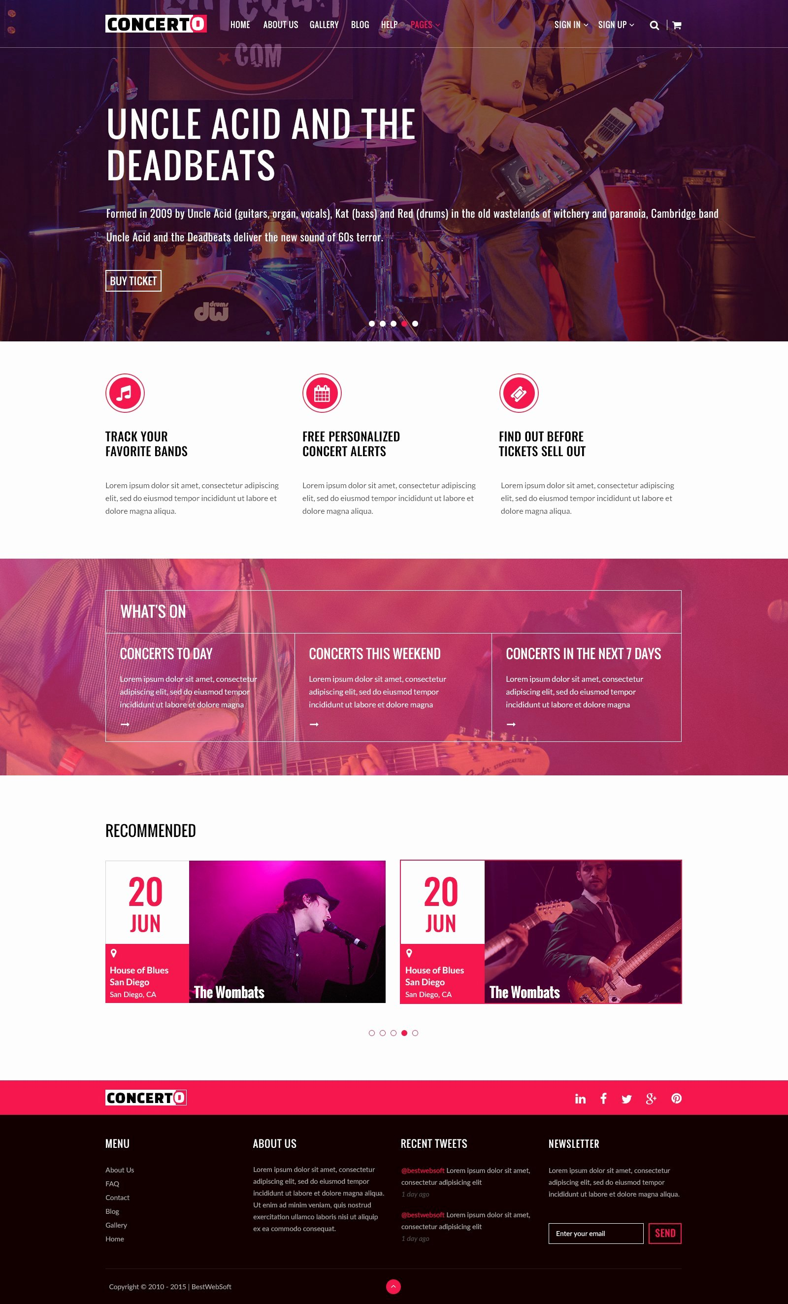 Event Website Template Free Beautiful Concerto Music events & Tickets Website Templates