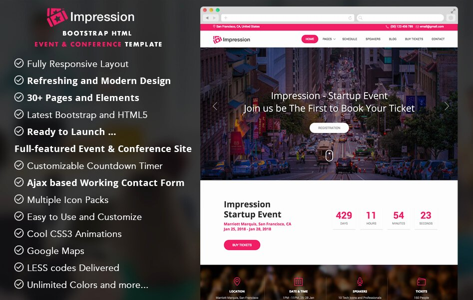 Event Website Template Free Best Of 30 Free Bootstrap Templates to Download In 2019