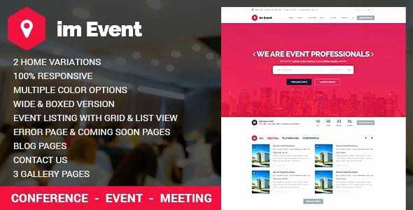 Event Website Template Free Elegant event Management Template with Version by Free Rtl Website