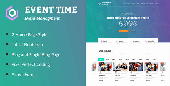 Event Website Template Free Elegant event Time Conference & event HTML Template by