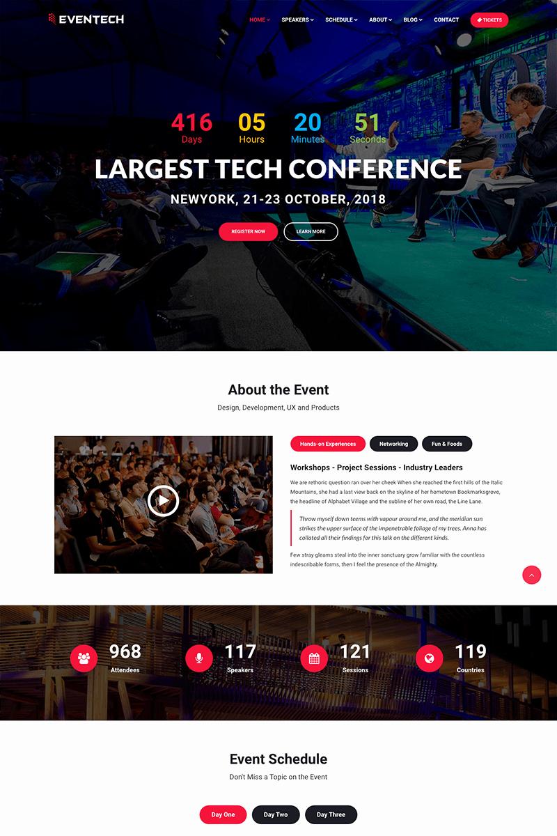 Event Website Template Free Elegant eventech Conference event Website Template