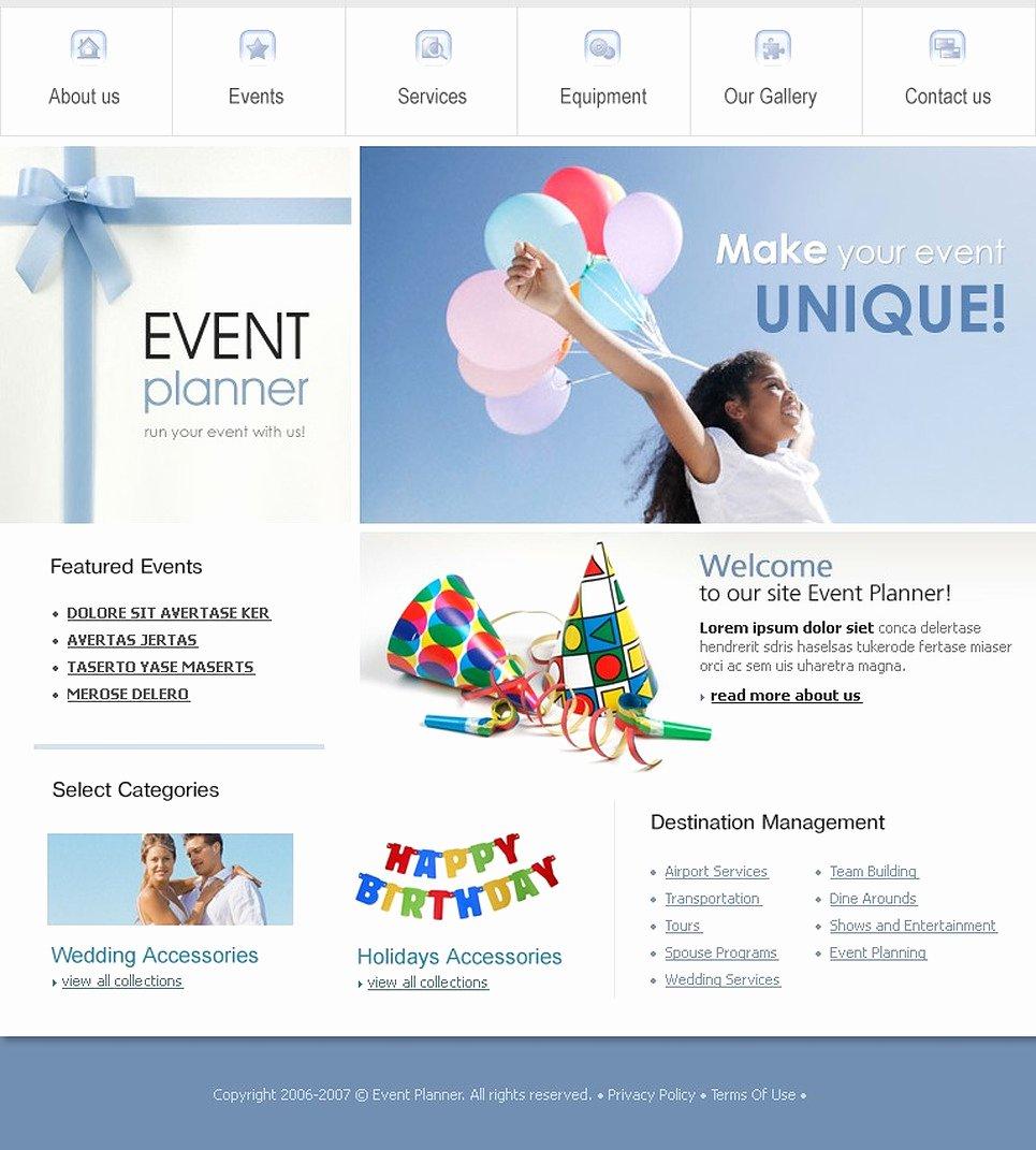 Event Website Template Free Luxury event Planner Website Template