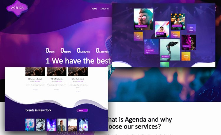 free event website template event planner