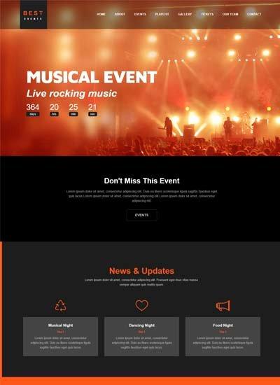 Event Website Template Free Unique Free Website Templates and Bootstrap themes Webthemez