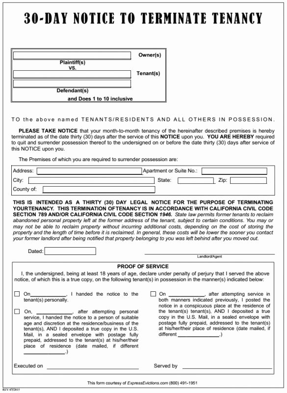 Eviction Notice Template California Luxury Eviction Notice Texas