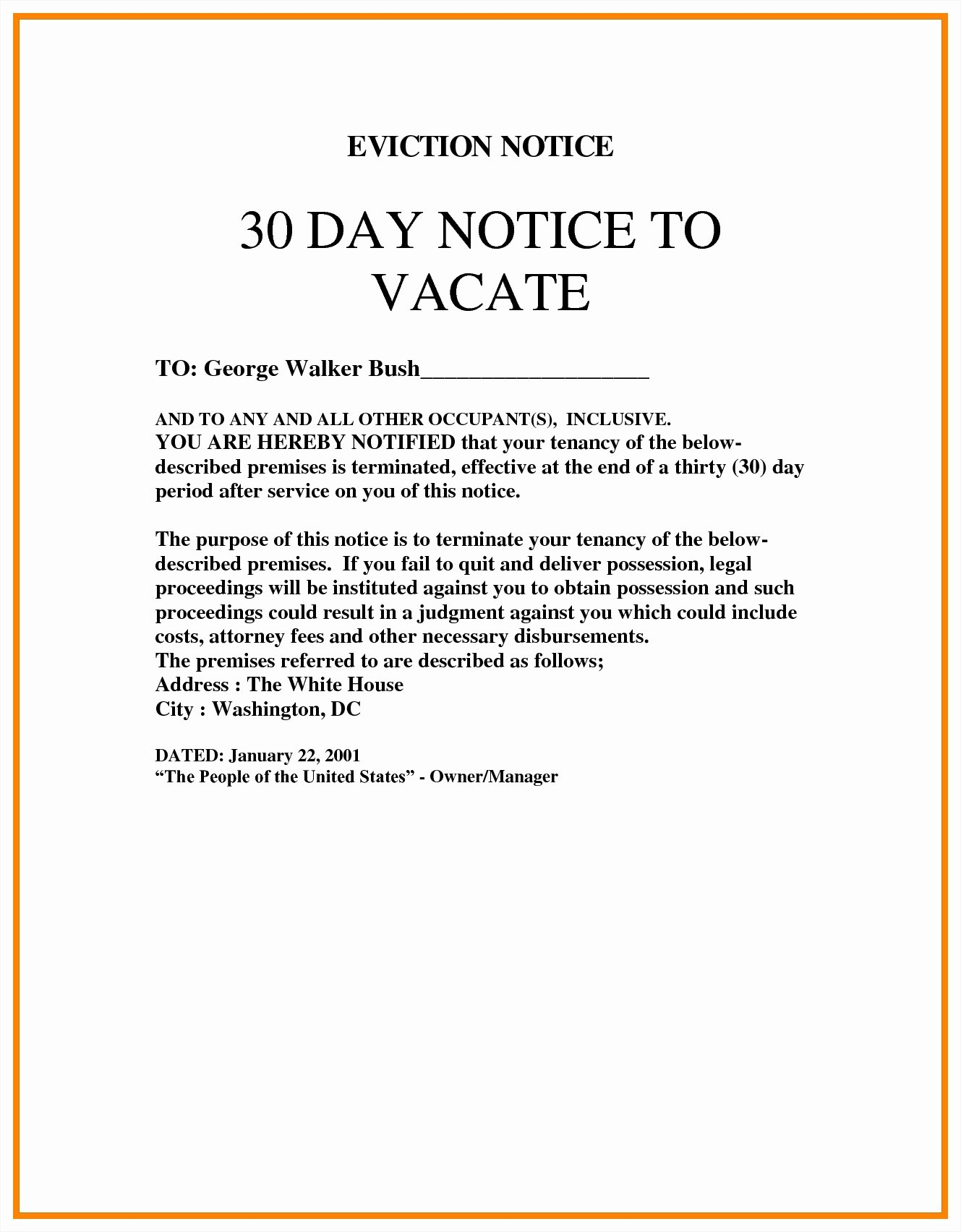 Eviction Notice Template California Unique Blank Eviction Notice Mughals