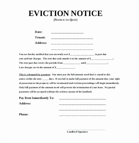Eviction Notice Template California Unique Sample Eviction Notice Templates Free Samples Examples for