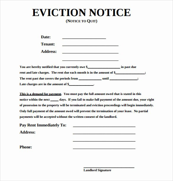 Eviction Notice Template Florida Elegant 43 Eviction Notice Templates Pdf Doc Apple Pages