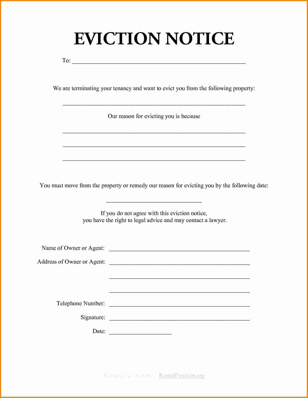 Eviction Notice Template Florida Luxury Eviction Notice Template