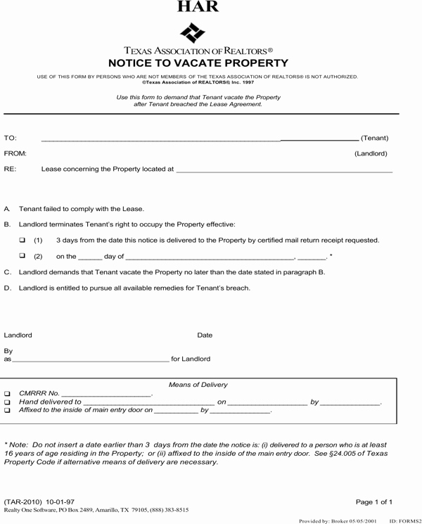 Eviction Notice Template Texas Beautiful Download Texas Eviction Notice Template for Free