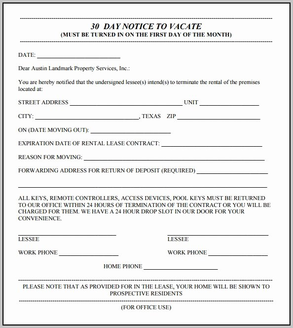 Eviction Notice Template Texas Best Of Free Eviction Notice form Texas Download Template