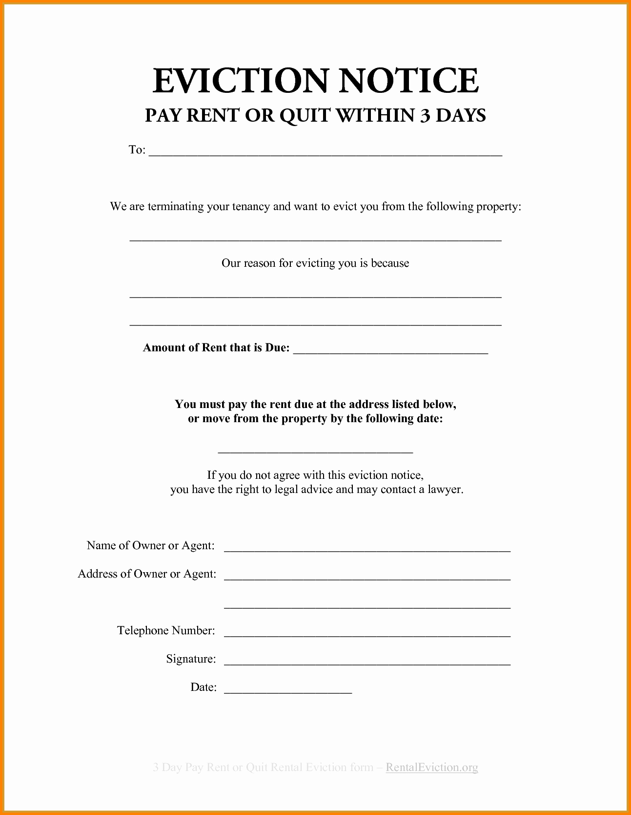 Eviction Notice Template Texas Lovely Eviction Notice Template Example Mughals