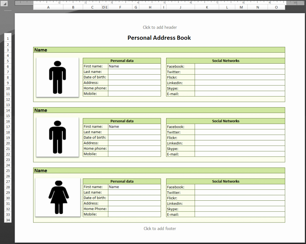 Excel Address Book Template Best Of Best S Personal Phone Directory Template Microsoft