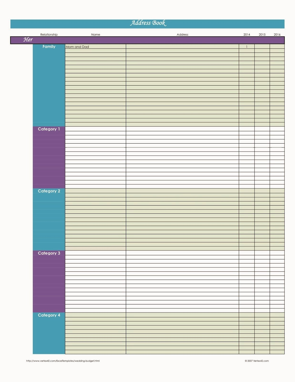 Excel Address Book Template Lovely Laura S Plans Easy Excel Address Book Template