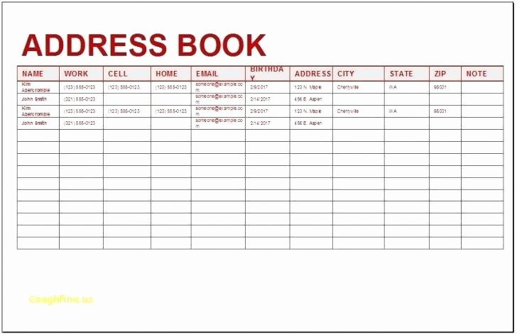 Excel Address Book Template New Excel Spreadsheet Address Book Template Templates Station