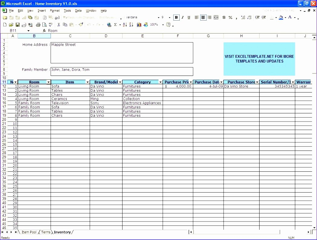 Excel asset Tracking Template Best Of 6 Excel Stock Control Template Exceltemplates