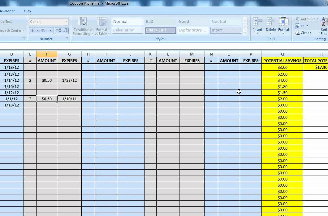 Excel asset Tracking Template Elegant Extreme Couponing Alphabetical Spreadsheet for Coupon