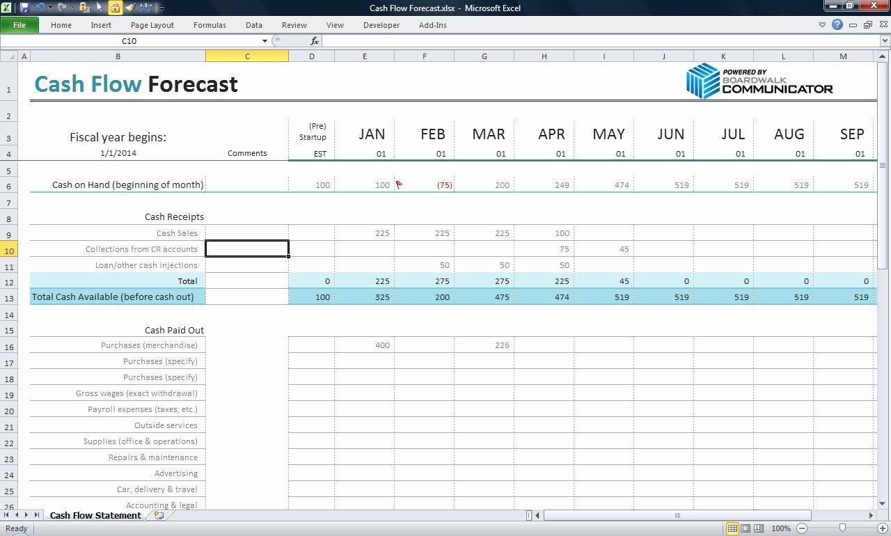 Excel Cash Flow Template Fresh Best S Of Cash Management Template Excel Business