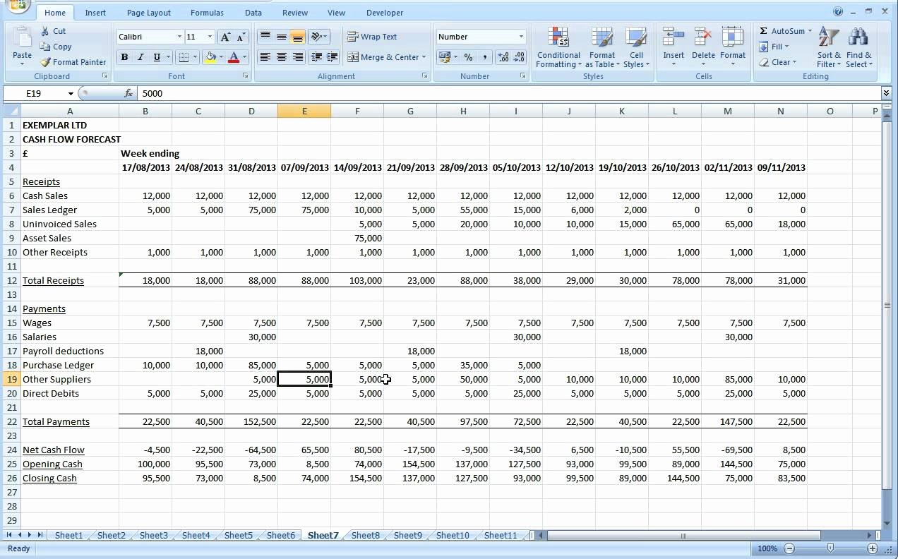 Excel Cash Flow Template Fresh Cash Flow Excel Spreadsheet Template Cash Flow Spreadsheet