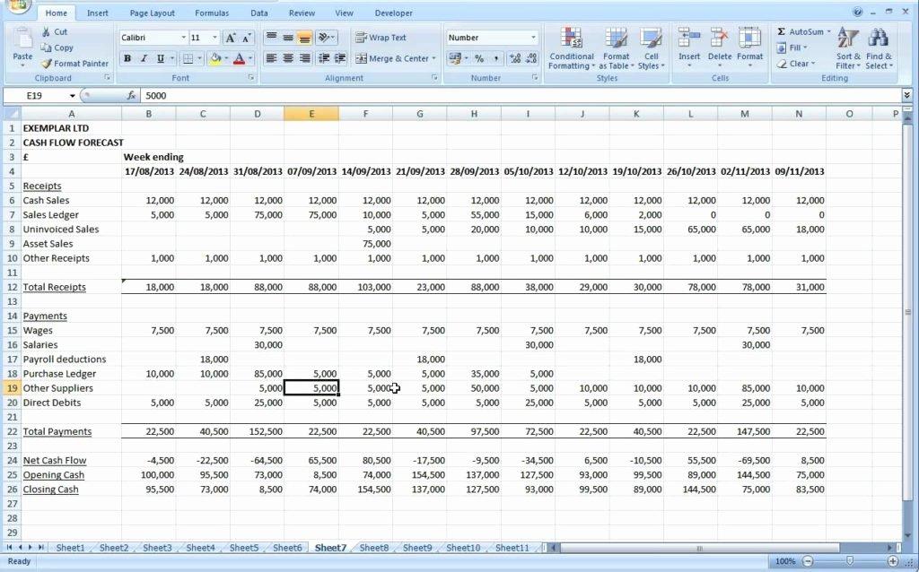 Excel Cash Flow Template Inspirational Cash Flow Excel Spreadsheet Template Ms Excel Spreadsheet