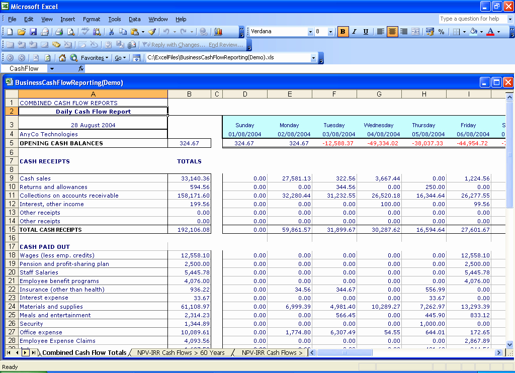 Excel Cash Flow Template Luxury Best S Of Daily Cash Flow Spreadsheet Daily Cash