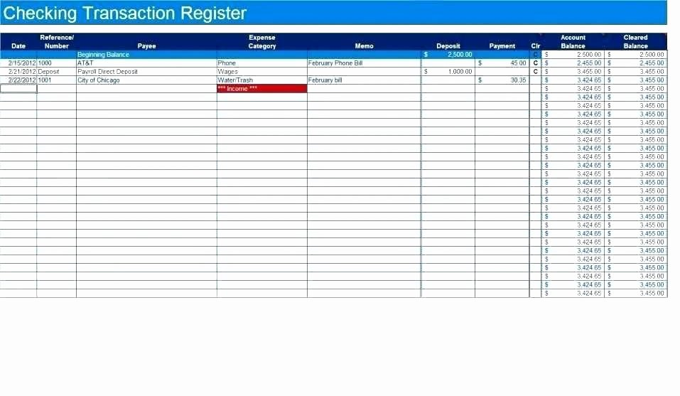 Excel Checkbook Register Template Beautiful Free Printable Check Register Full Page for Checkbook
