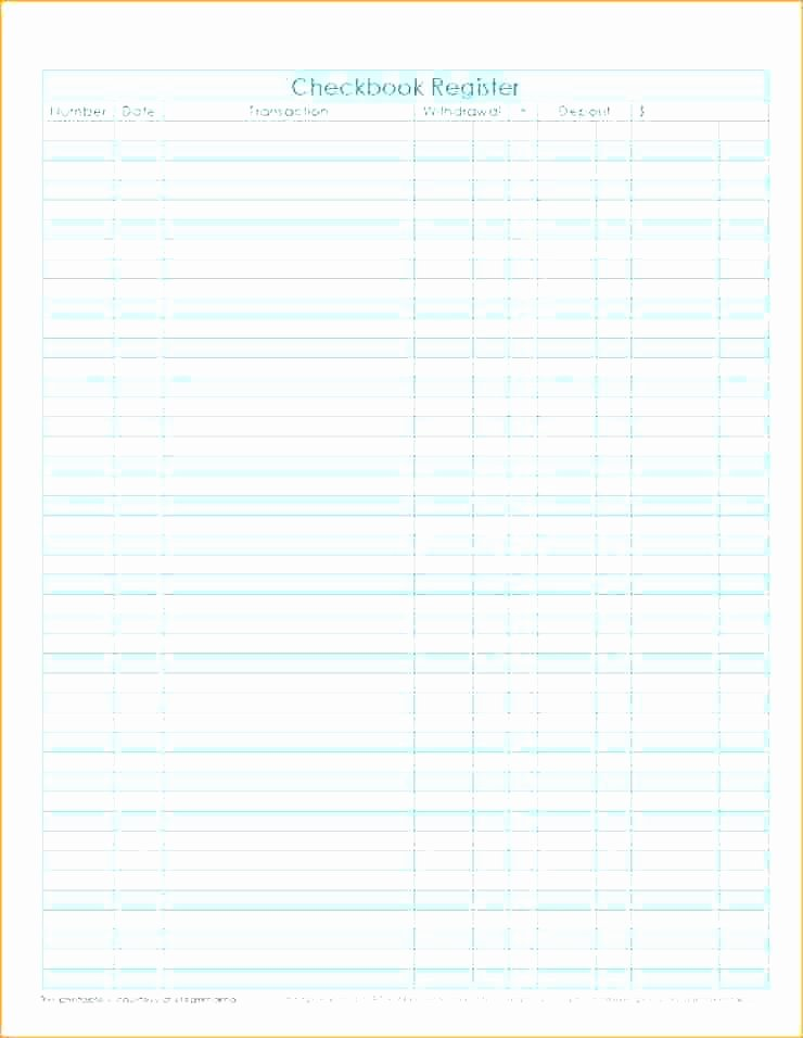 Excel Checkbook Register Template Unique Free Check Register Template Excel – Haydenmedia