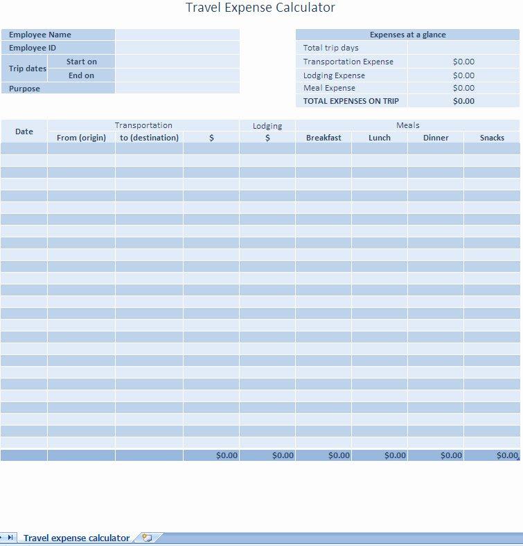 Excel Expense Report Template Elegant Excel Expense Report Template
