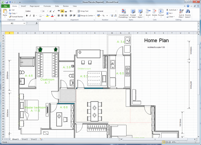 Excel Floor Plan Template Awesome Create Floor Plan for Excel