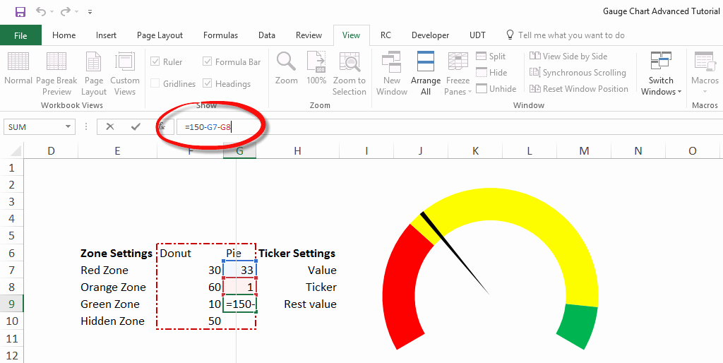 Excel Gauge Chart Template Awesome Gauge Chart Excel Tutorial Step by Step Training