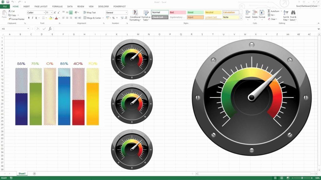 Excel Gauge Chart Template Beautiful Project Management Dashboard Excel Template Free Download
