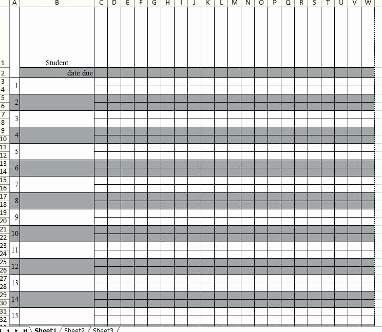 Excel Grade Sheet Template Inspirational Printable Teacher Grade Sheet Free Sheets Template Excel
