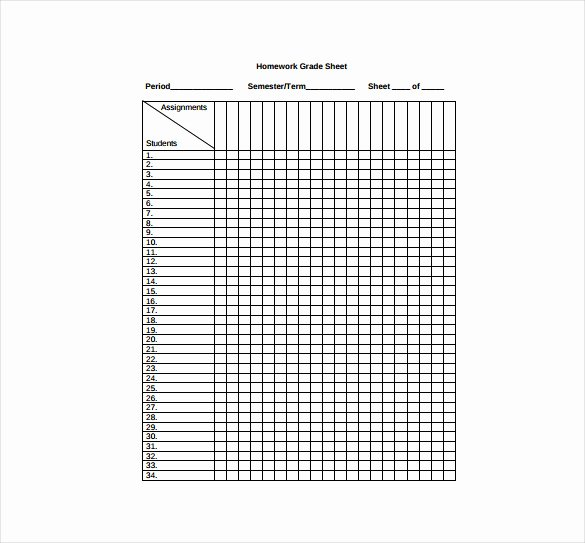 Excel Grade Sheet Template Lovely Grade Sheet Template 32 Free Word Excel Pdf Documents