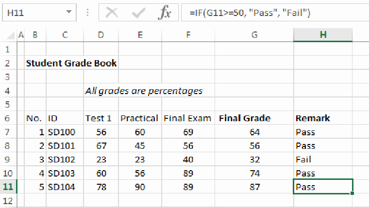 Excel Grade Sheet Template Unique An Example Student Grade Book Spreadsheet where Student
