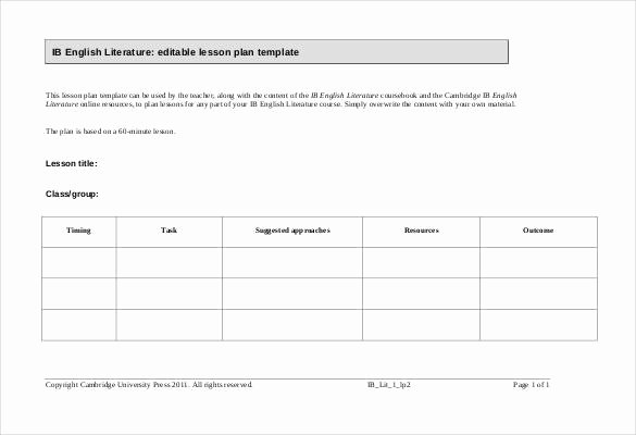 Excel Lesson Plan Template Best Of 59 Lesson Plan Templates Pdf Doc Excel