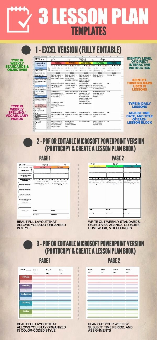 Excel Lesson Plan Template Elegant 17 Best Images About Lesson Plan Structure On Pinterest