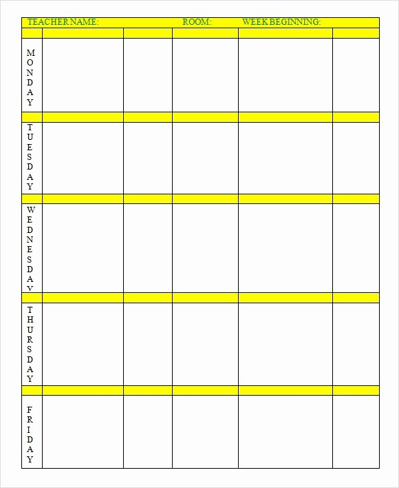 Excel Lesson Plan Template Fresh Weekly Lesson Plan 8 Free Download for Word Excel Pdf