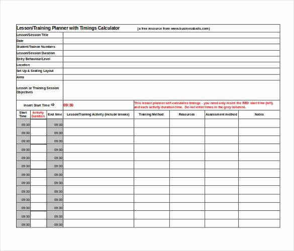 Excel Lesson Plan Template Luxury 59 Lesson Plan Templates Pdf Doc Excel