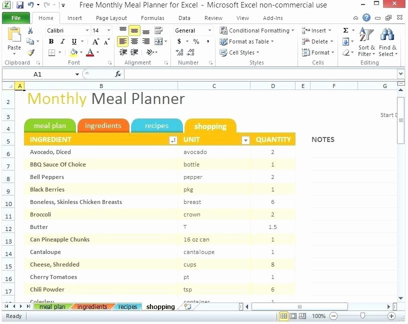 Excel Meal Plan Template Lovely Fice Bud Templates Ms Planner Microsoft Lesson Plan