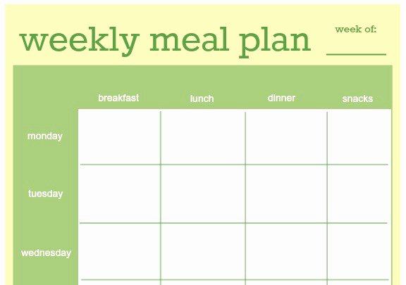 Excel Meal Plan Template New 18 Free Plan Templates Excel Pdf formats