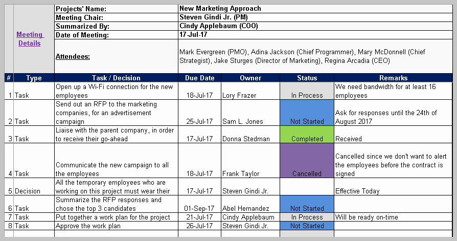 Excel Meeting Minutes Template Lovely Meeting Minutes Template Excel and Word Free Download
